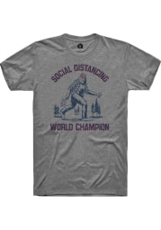Rally Graphite Social Distancing World Champions Short Sleeve T Shirt