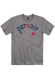 Rally Detroit Stars Grey Arch Graphic Short Sleeve Fashion T Shirt
