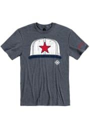Rally Detroit Stars Navy Blue Cap Short Sleeve Fashion T Shirt