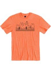 Cincinnati Heather Orange Skyline Short Sleeve T-Shirt