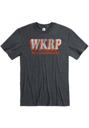 Cincinnati Heather Dark Grey WKRP Short Sleeve T-Shirt