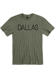 Dallas Heather City Green Disconnected Short Sleeve T-Shirt