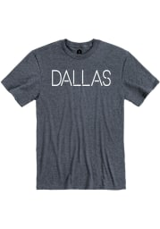 Dallas Heather Navy Disconnected Short Sleeve T-Shirt