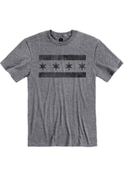 Chicago Graphite City Flag Short Sleeve T-Shirt