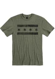 Chicago Heather City Green City Flag Short Sleeve T-Shirt
