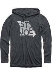 St. Joe Heather Dark Grey State Shape T-Shirt Hood