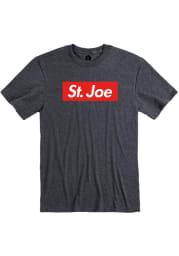 St. Joe Heather Dark Grey Boxy Short Sleeve T-Shirt