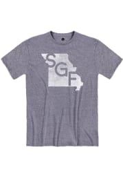 Springfield Denim Snow Heather SGF State Shape Short Sleeve T-Shirt