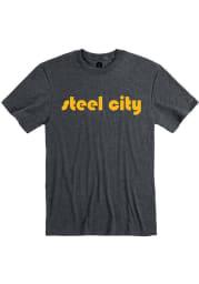 Pittsburgh Heather Dark Grey Steel City Short Sleeve T-Shirt