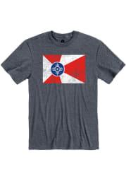 Wichita Heather Navy Flag Short Sleeve T-Shirt