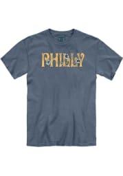 Philadelphia Women's Denim Floral Comfort Colors Unisex Short Sleeve T-Shirt