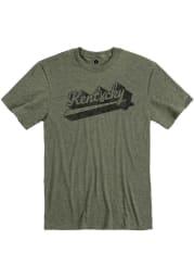 Kentucky Heather City Green Peace Sign Short Sleeve T-Shirt