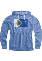 Topeka Royal Snow Heather City Flag Long Sleeve Hood Sweatshirt