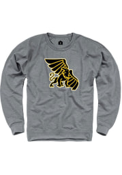 Rally Missouri Western Griffons Mens Grey French Terry Team Logo Long Sleeve Crew Sweatshirt