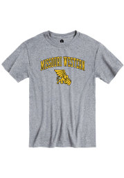 Rally Missouri Western Griffons Grey Arch Mascot Short Sleeve T Shirt