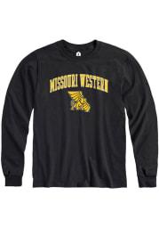 Rally Missouri Western Griffons Black Arch Mascot Long Sleeve T Shirt