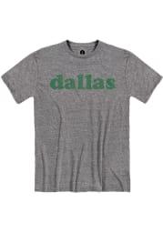 Dallas Snow Heather Graphite Retro Short Sleeve T-Shirt