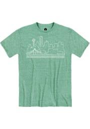 Dallas Snow Heather Green Skyline Short Sleeve T-Shirt