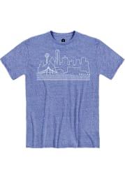 Dallas Snow Heather Royal Skyline Short Sleeve T-Shirt