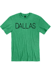 Dallas Heather Kelly Green Disconnected Short Sleeve T-Shirt