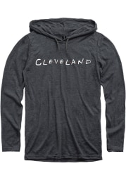 Cleveland Mens Grey Dots Long Sleeve Hoodie