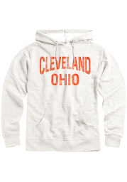 Cleveland Mens Oatmeal Arch Long Sleeve Hoodie