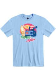 Pineapple Whip Light Blue Truck Silhouette Short Sleeve T-Shirt