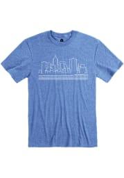 Rally Indianapolis Blue City Skyline Short Sleeve Fashion T Shirt