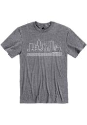 Rally Indianapolis Grey City Skyline Short Sleeve Fashion T Shirt