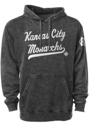 Rally Kansas City Monarchs Mens Black Club Script Fashion Hood