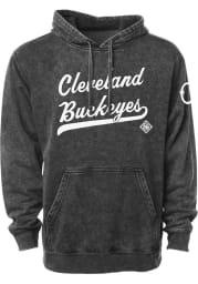 Rally Cleveland Buckeyes Mens Black Club Script Fashion Hood