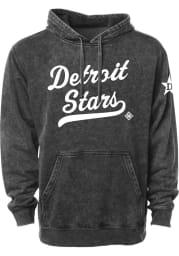 Rally Detroit Stars Mens Black Club Script Fashion Hood