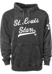 Rally St Louis Stars Mens Black Club Script Fashion Hood