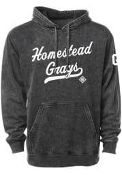 Rally Homestead Grays Mens Black Club Script Fashion Hood