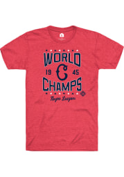 Rally Cleveland Buckeyes Red World Champs Short Sleeve Fashion T Shirt