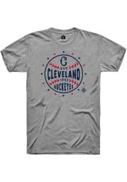 Rally Cleveland Buckeyes Grey Star Ball Short Sleeve Fashion T Shirt