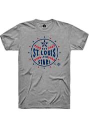 Rally St Louis Stars Grey Star Ball Short Sleeve Fashion T Shirt