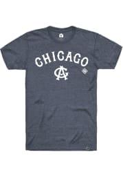 Rally Chicago American Giants Navy Blue Script Logo Short Sleeve Fashion T Shirt