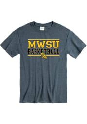 Missouri Western Griffons Charcoal Basketball Short Sleeve T Shirt
