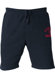 Rally Cleveland Buckeyes Mens Navy Blue Number 1 Graphic Shorts