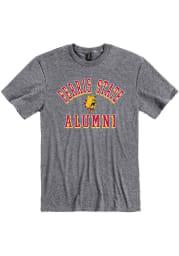 Ferris State Bulldogs Grey Alumni Short Sleeve Fashion T Shirt