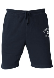 Rally Homestead Grays Mens Navy Blue Number 1 Graphic Shorts