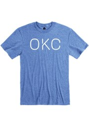 Rally Oklahoma City Blue Disconnected Short Sleeve Fashion T Shirt