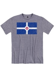 Rally Indianapolis Blue City Flag Short Sleeve Fashion T Shirt