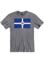 Rally Indianapolis Grey City Flag Short Sleeve Fashion T Shirt