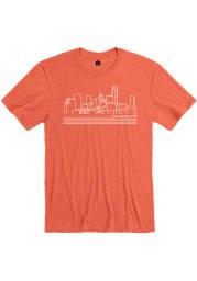 Rally Orange Skyline Short Sleeve Fashion T Shirt