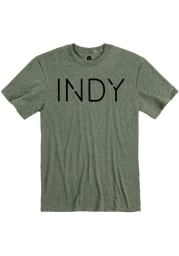 Rally Indianapolis Olive Disconnected Short Sleeve Fashion T Shirt