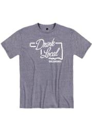 Rally Oklahoma Blue Drink Local Short Sleeve Fashion T Shirt