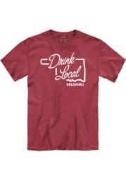 Oklahoma Crimson Drink Local Short Sleeve T Shirt