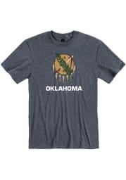 Rally Oklahoma Navy Blue State Flag Short Sleeve Fashion T Shirt